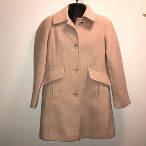 East 5th Wood Blend Cream Pea Coat~sz S~
